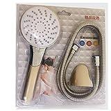 MEOW MARKET節水シャワーヘッドシャワーヘッド 風呂タイプ 高水圧 低圧 散水など5モード水流 ジャバラホース 取付フック付 メタリック (シャワーヘッドB)