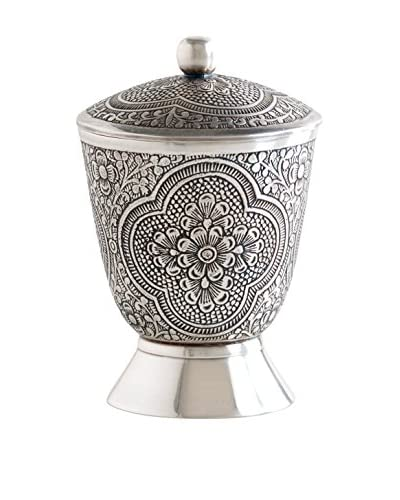 Shiraleah Brass Basma Cotton Swab Jar
