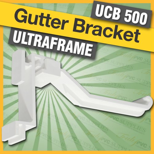 5 x White Ultraframe UCB500 Conservatory Gutter Brackets, suitable for conservatories with a Ultraframe roof / Ultralite® 500 Classic Gutters or MGU400 gutter system, they twist into place - no need for screws.