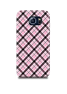 Pink Plaid Samsung S6 Case