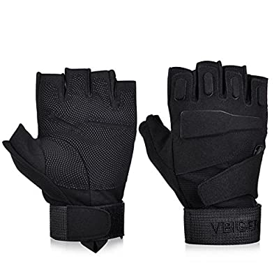 Vbiger Tactical Gloves Military Gloves Shooting Gloves Fingerless Half-finger Riding Hunting Cycling Gloves