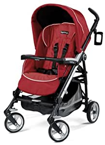 Peg Perego Pliko Four Stroller, Geranium (Discontinued by Manufacturer)