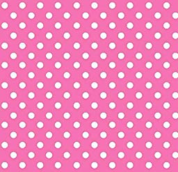 SheetWorld Fitted Pack N Play (Graco) Sheet - Primary Polka Dots Pink Woven - Made In USA