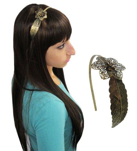 Gold Single Leaf Hard Headband