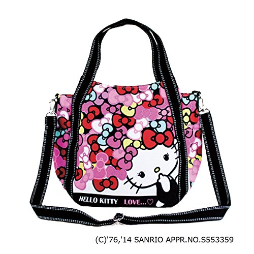 【 DEARISIMO ディアリッシモ 】 HELLO KITTY × DEARISIMO キティ トート ショルダー バッグ (4507)