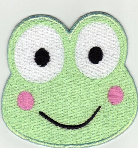 Aufnäher Bügelbild Applikation Iron on Patches Frosch Kermit