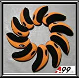 H09 golf club headcover neoprene iron head cover 10pcs (black/orange)