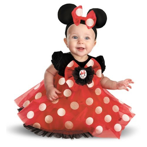 [Disguise My First Disney Red Minnie Costume, Black/Red/White, 6-12 Months Color: Black/Red/White Size: 6-12 Months Model:] (Infant Red Minnie My First Disney Costumes)