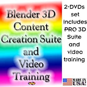 3D Content Creation Suite and Video Training 2-DVDs set, ver 2009 for Windows, Mac OS X and Linux