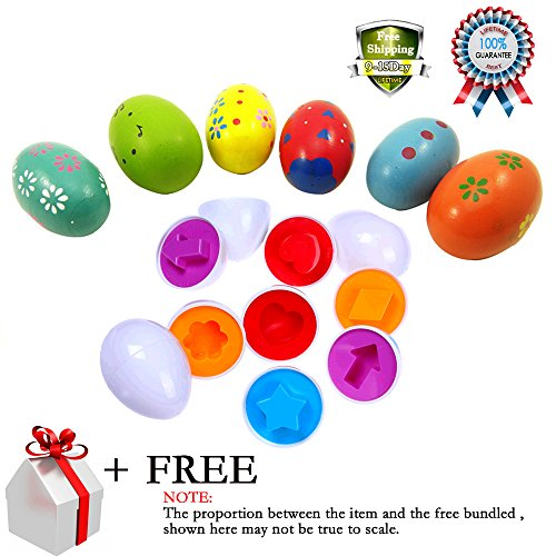 11 Pcs Smart Capsule Egg Kids Baby Study Color Shape Blocks Puzzle Educational Toys Children Music Shaker Instrument Percussion Rattle Maracas Musicial Xmas Gift Toy