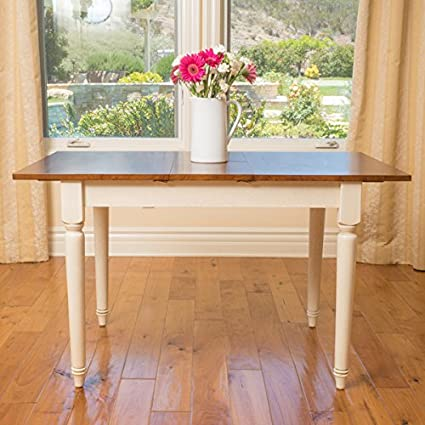 Oakfield Wood Dining Table for 6 with Butterfly Leaf Extension