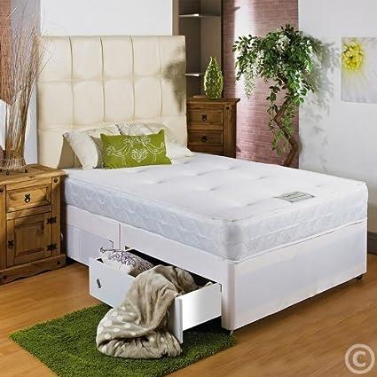 HF4YOU bianco memoria morbido divano letto–0,9m 6–2cassetti stesso lato singolo grande–senza testiera da HF4YOU