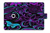 2014 Hot Purple pattern Ultra 360 Degree Rotating PU Leather Case Cover Stand Fold Slim Smart Magnetic Leather Case Cover For Apple iPad Mini & ipad Mini 2