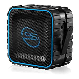 [Wasserdicht] deleyCON SOUNDSTERS - rocktank mini BT - mini Bluetooth Lautsprecher Box Kabellos Wasserdicht - Schwarz - für Handy & Co - OUTDOOR