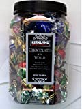 KIRKLAND Signature PREMIUM CHOCOLATES of the WORLD ASSORTMENT JAR NET WT 2 Lb (907 g) (From Italy Germany, Spain, Switzerland, Canada and Belgium)