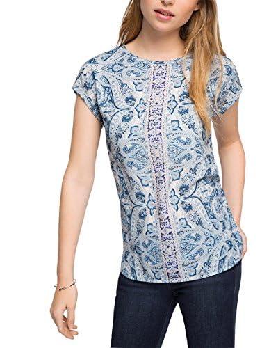 Esprit Camiseta Manga Corta Azul