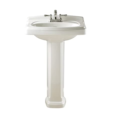 American Standard 0555.401.020 Townsend Pedestal Bathroom Sink with 4-Inch Faucet Spacing, White