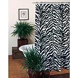 Kimlor Mills Karin Maki Zebra Shower Curtain, Black