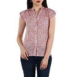 TWIST N WRAPS BY NIDHI Womens' Shirt (TNW-BK-1091_L_Red _Large)