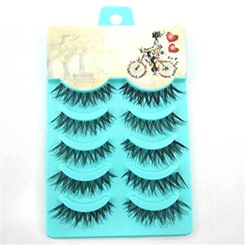 5 pairs Handmade false eyelashes popular messy natural paragraph eye lashes (Revlon Heated Eyelash Curler compare prices)