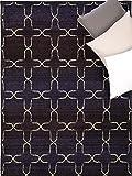 benuta Teppiche: Moderner Designer Teppich Liguria Blau 120×180 cm – Oeko-Tex Standard 100-Siegel – 100% Polypropylen – Ornament – Maschinengewebt – Wohnzimmer