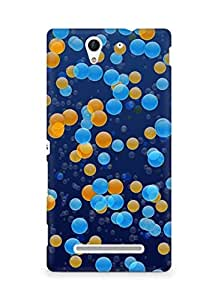 Amez designer printed 3d premium high quality back case cover for Sony Xperia C3 D2502 (Points circles colorful light small scattering)