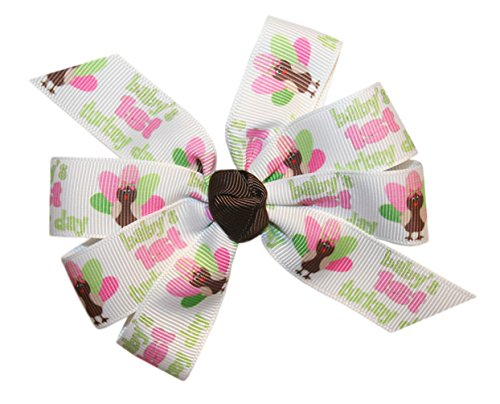 Webb Direct 2U Baby-Girls 1St Turkey Day Thanksgiving Hair Bow Alligator (8038A) front-1016085