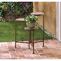Rustic Gifts & Decor Triple Planter Stand