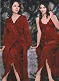 Odishabazaar Hot Sleep Wear 2pc Nighty Over Coat Red Women Babydoll Bed Night Set