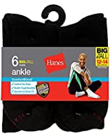 Hanes Men`s Big and Tall ComfortBlend® Ankle Socks