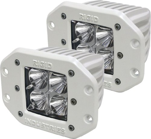 Rigid Industries 61211 M-Series Flush MountDually LED Floodlight, (Set of 2)