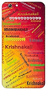Krishnakali (a flower) Name & Sign Printed All over customize & Personalized!! Protective back cover for your Smart Phone : Moto X-STYLE