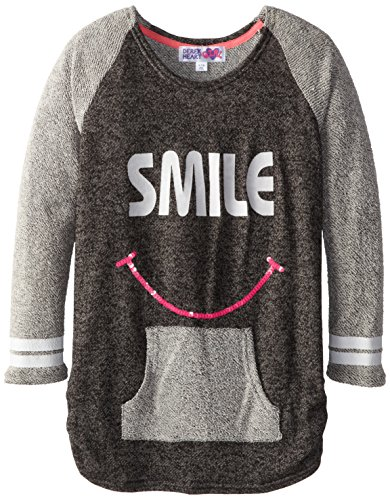 Derek Heart Big Girls' Raglan Tunic  Sequins,