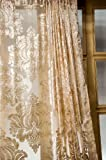 Isabella velvet sheer curtain (Ivory, 52