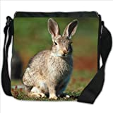 Rabbit On Grass Small Denim Shoulder Bag / Handbag