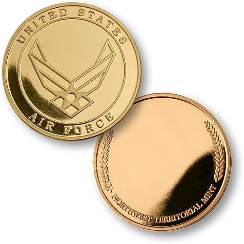 Air Force Emblem - Wreath MerlinGold Challenge Coin