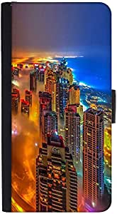 Snoogg Colorful City Designer Protective Phone Flip Back Case Cover For Xiaomi Redmi Note 3