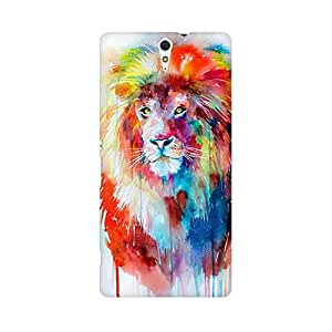 Mobicture Abstract Lion Premium Printed High Quality Polycarbonate Hard Back Case Cover for Sony Xperia C5 With Edge to Edge Printing