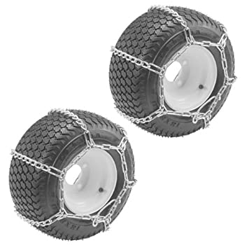 Buy Oregon (2 Pack) 67-024 ATV 25X1300-9 Tire Snow Chains With 4-Link Spacing good price
