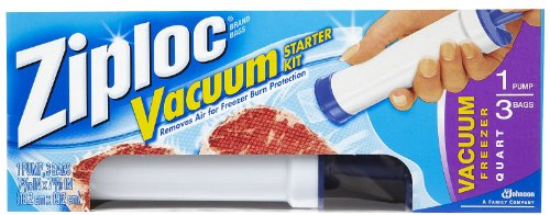 Ziploc Vacuum Starter Kit, 3-Quart Bags, 1-Pump (Vacuum Starter Kit compare prices)