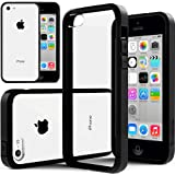 iPhone 5C Case, Caseology® [Fusion Series] Scratch-Resistant Clearback Cover [Black] [Dual Bumper] for Apple iPhone 5C - Black