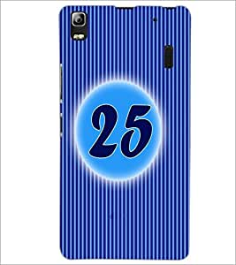 PrintDhaba Numerology Number 25 D-2583 Back Case Cover for LENOVO A7000 (Multi-Coloured)