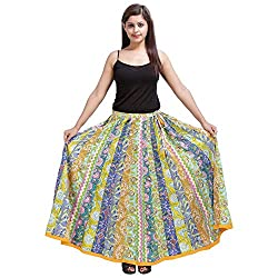 Indigocart Beautiful Multicolor Cotton Printed Skirt
