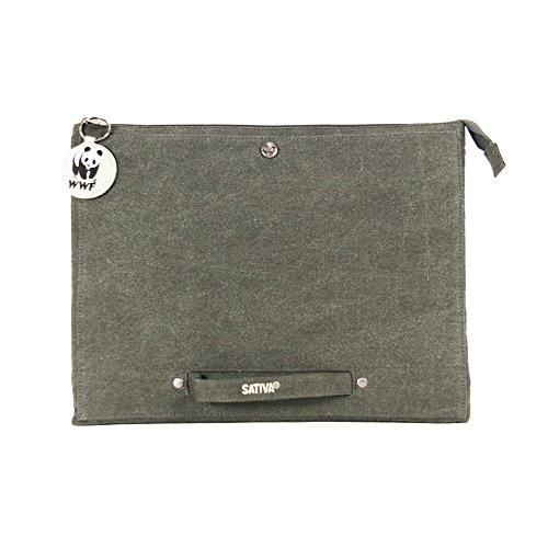"Sativa Hemp 13 Inch 13"" Small Laptop Case (Grey)"