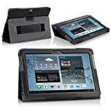 MoKo(TM) Slim Cover Case For Samsung Galaxy Tab 2 10.1-inch P5100 / P5110 Tablet BLACK (with Bulit-in Stand Stylus...