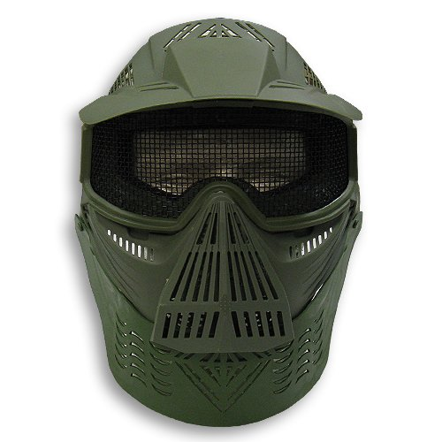 Airsoft Safety Face Mask MESH OD GREEN Pforce 