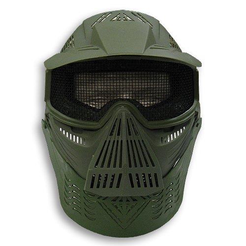 Airsoft Safety Face Mask MESH OD GREEN Pforce