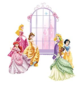 Roommates Rmk1988Slm Disney Princess Personalization Peel And Stick Mega Wall Decal from RoomMates