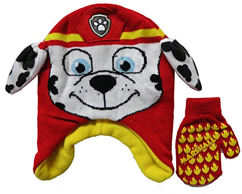 Nickelodeon Paw Patrol Boys Hat and Mittens Set - Size Toddler [4013]