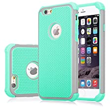 buy Iphone 6/6S Plus Case, Jeylly [Shock Proof] Plastic Outer + Rubber Silicone Inner Scratch Absorbing Hybrid Rubber Plastic Impact Defender Rugged Slim Case Cover For Apple Iphone 6/6S Plus 5.5 Inch